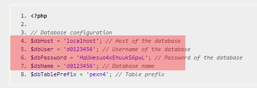 Konfigurationsdateien - Prüfung der Datenbankzugangsdaten, Bild 15
