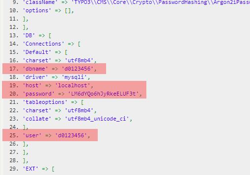 Konfigurationsdateien - Prüfung der Datenbankzugangsdaten, Bild 8