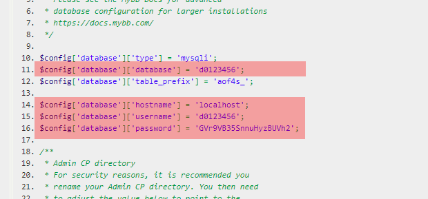Konfigurationsdateien - Prüfung der Datenbankzugangsdaten, Bild 11