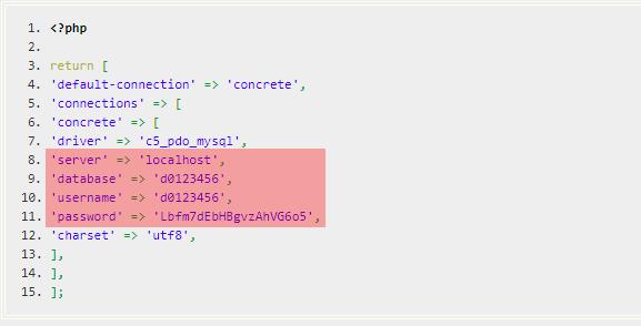 Konfigurationsdateien - Prüfung der Datenbankzugangsdaten, Bild 3