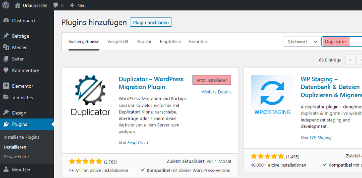 WordPress - Übertragung von WordPress, Bild 3