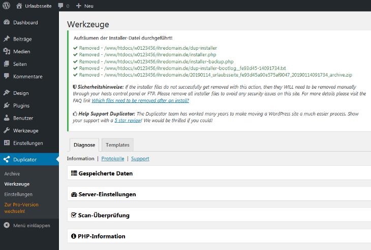 WordPress - Übertragung von WordPress, Bild 19
