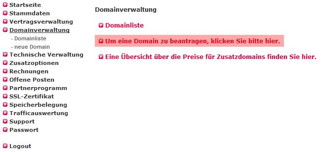 so funktioniert das Bestellen einer Domain - Bestellen der Domain in der MembersArea (Providerwechsel), Bild 3