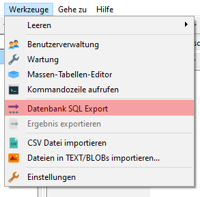 HeidiSQL - Datenbanksicherung anlegen, Bild 1