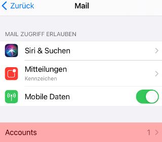 iOS Mail - SMTP-Authentifizierung aktivieren, Bild 3