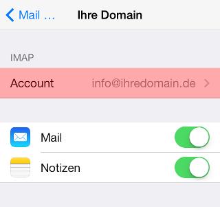 iOS Mail - SMTP-Authentifizierung aktivieren, Bild 5