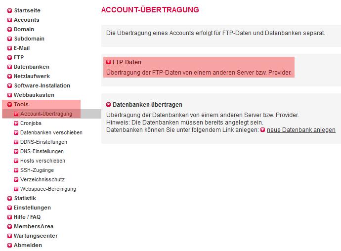 Accountübertragung - Accountverschiebung, Bild 6