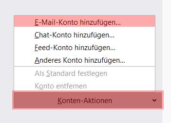 Thunderbird - E-Mail-Konto einrichten, Bild 2