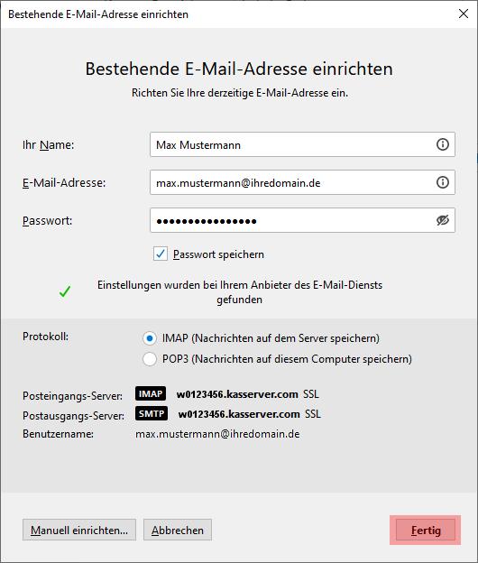 Thunderbird - E-Mail-Konto einrichten, Bild 4