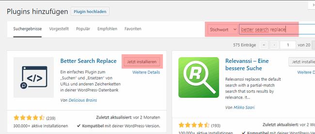 WordPress - Änderung der Domain, Bild 5