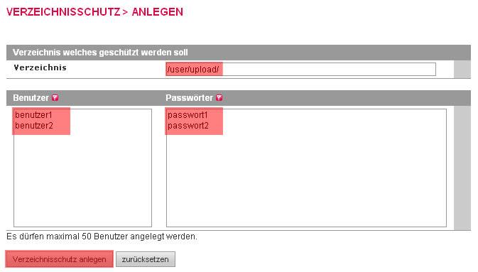 administrative Werkzeuge - Verzeichnisschutz, Bild 4