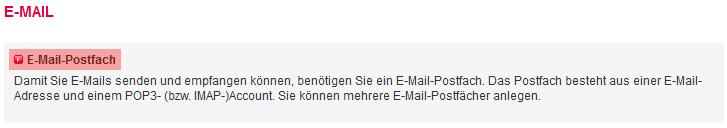 Mail-Adresse, Autoresponder, Weiterleitung - E-Mail-Konto anlegen, Bild 2