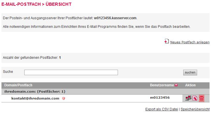 Mail-Adresse, Autoresponder, Weiterleitung - E-Mail-Konto löschen, Bild 3