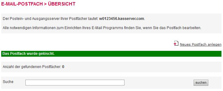 Mail-Adresse, Autoresponder, Weiterleitung - E-Mail-Konto löschen, Bild 5
