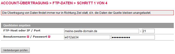 Accountübertragung - FTP-Übertragung, Bild 4