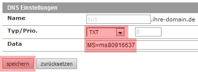 DNS-Werkzeuge - TXT-Record, Bild 2