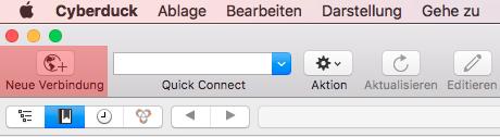 Cyberduck (MAC) - Verbinden und Dateien hochladen, Bild 1