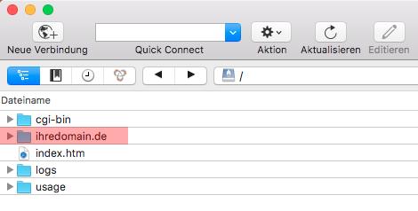 Cyberduck (MAC) - Verbinden und Dateien hochladen, Bild 3