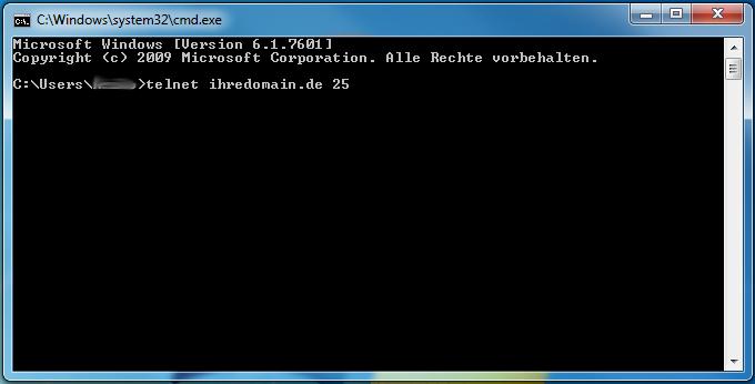 Portverbindungen zur Domain per Telnet testen - Anleitung über Windows-Kommandozeile, Bild 2