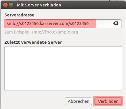 Einbindung als Netzlaufwerk - Netzlaufwerk einbinden - Ubuntu Unity, Bild 3