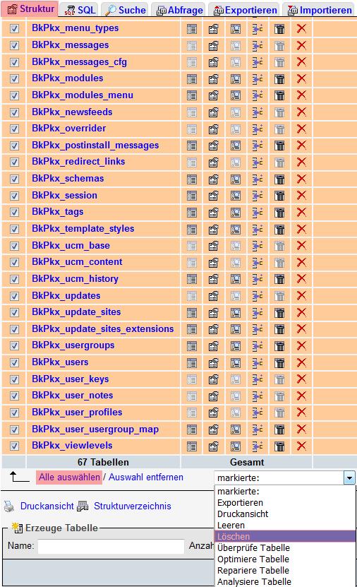 phpMyAdmin - Version 3.4 - Datenbanksicherung einspielen, Bild 5