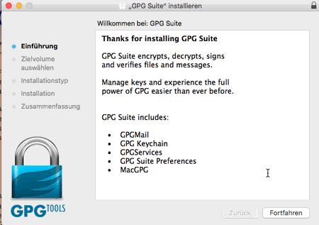 PGP-Verschlüsselung - Installation unter macOS, Bild 1