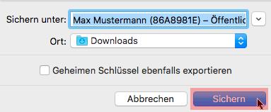 PGP-Verschlüsselung - Installation unter macOS, Bild 5
