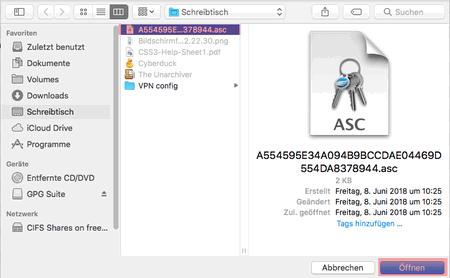 PGP-Verschlüsselung - Installation unter macOS, Bild 8