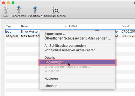 PGP-Verschlüsselung - Installation unter macOS, Bild 10