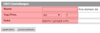 DNS-Werkzeuge - MX-Record mit Host ändern, Bild 2