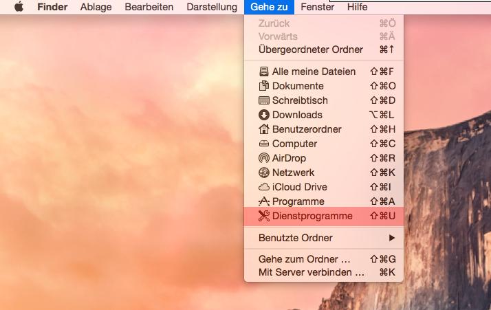 Dateiverwaltung - Verbindung mit Terminal auf MAC aufbauen (Passwort-Verfahren), Bild 1