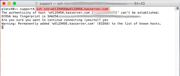 Dateiverwaltung - Verbindung mit Terminal auf MAC aufbauen (Public-Key-Verfahren), Bild 6