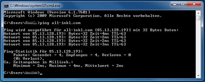 Domainerreichbarkeit per Ping testen - Anleitung über Windows-Kommandozeile, Bild 3