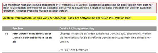 Migration der PHP Version - Welche PHP Version verwende ich, Bild 3