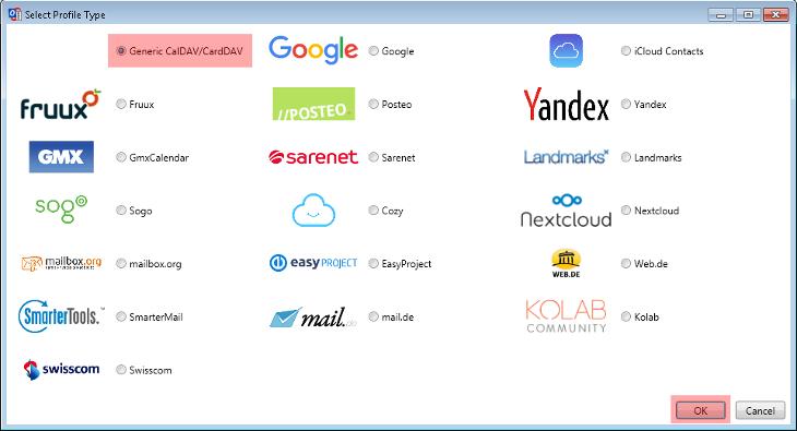 CardDAV - Synchronisierung von Kontakten - Outlook 2013, Bild 4