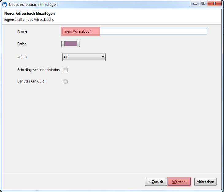 CardDAV - Synchronisierung von Kontakten - Thunderbird CardBook, Bild 7