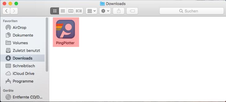 Routenverfolgung zu Domain per Tracert testen - Routenverfolgung mit PingPlotter (macOS), Bild 2