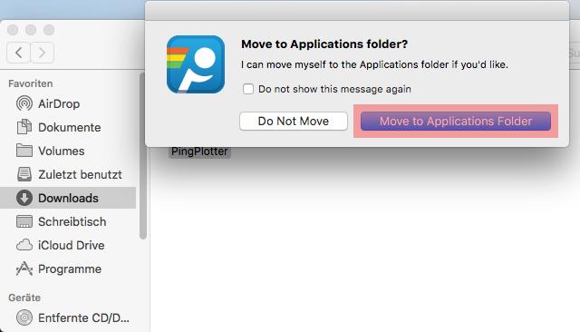 Routenverfolgung zu Domain per Tracert testen - Routenverfolgung mit PingPlotter (macOS), Bild 4
