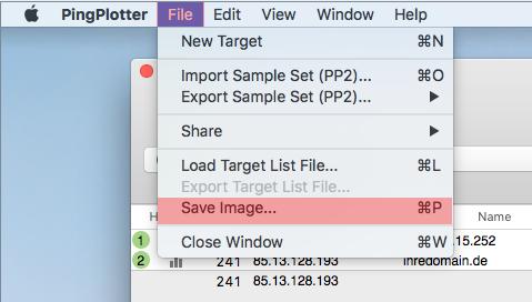 Routenverfolgung zu Domain per Tracert testen - Routenverfolgung mit PingPlotter (macOS), Bild 7
