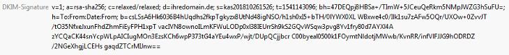 DNS-Werkzeuge - DKIM (bei Versand über unsere Mailserver), Bild 5