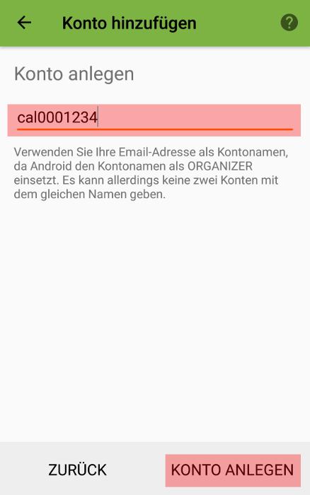CalDAV - Kalenderfunktion - Android DAVx5 (DAVdroid), Bild 3