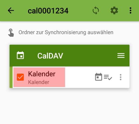 CalDAV - Kalenderfunktion - Android DAVx5 (DAVdroid), Bild 6