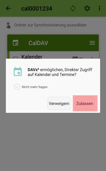 CalDAV - Kalenderfunktion - Android DAVx5 (DAVdroid), Bild 5