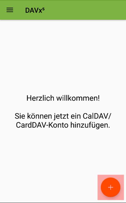 CalDAV - Kalenderfunktion - Android DAVx5 (DAVdroid), Bild 1