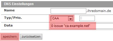DNS-Werkzeuge - CAA-Record, Bild 3