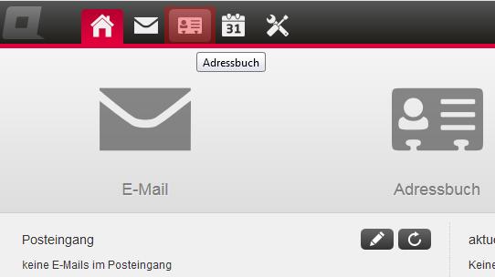 CardDAV - Synchronisierung von Kontakten - Einstellungen im WebMail anzeigen, Bild 2