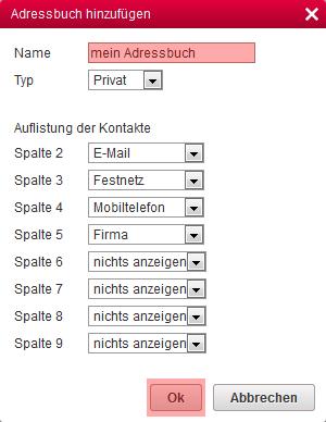 CardDAV - Synchronisierung von Kontakten - Einstellungen im WebMail anzeigen, Bild 4