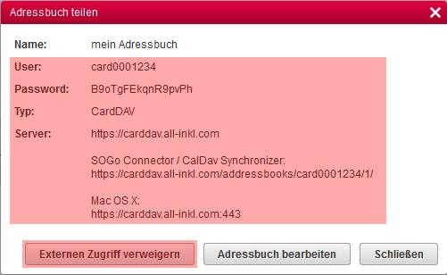 CardDAV - Synchronisierung von Kontakten - Einstellungen im WebMail anzeigen, Bild 6
