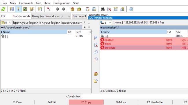 Total Commander 8.52a - Uploading files, Bild 2