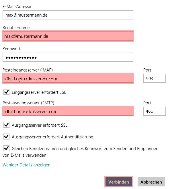 Windows 8 App - E-Mail-Konto einrichten, Bild 7